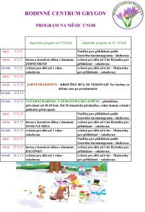 program únor  15