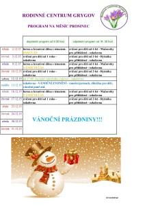 program prosinec 15