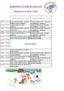 program únor 2016